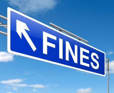 Fines sign post