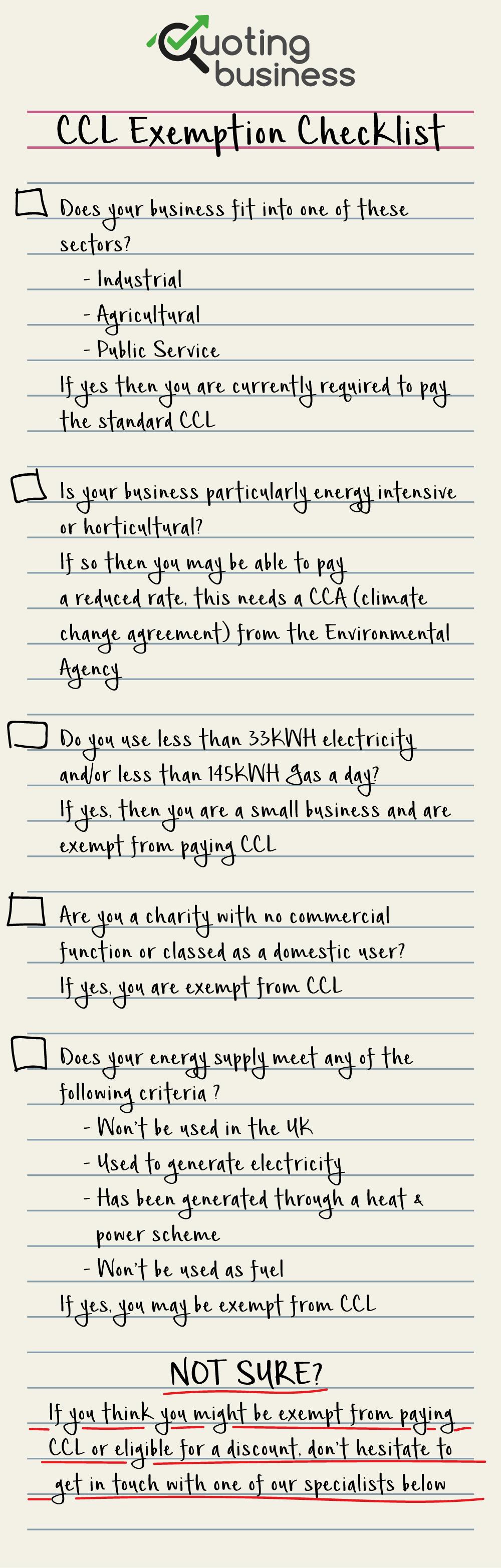 CCL-exemtion